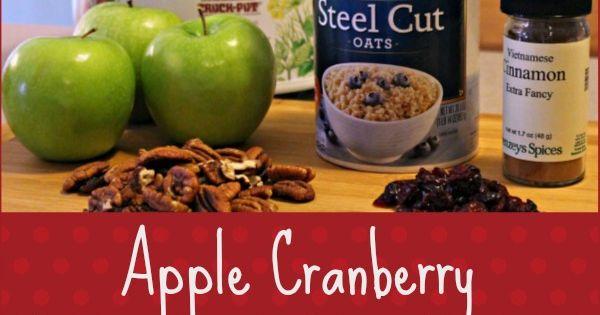 Hearty breakfasts, Steel cut oats and Cranberries on Pinterest