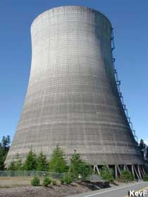 Accessible Cooling Tower At Abandoned Satsop Nuclear Power Plant