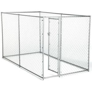 American Kennel Club 6 Ft X 10 Ft X 6 Ft Chain Link Kennel Kit 308595akc The Home Depot In 2020 American Kennel Club Dog Playpen Dog Kennel Outdoor