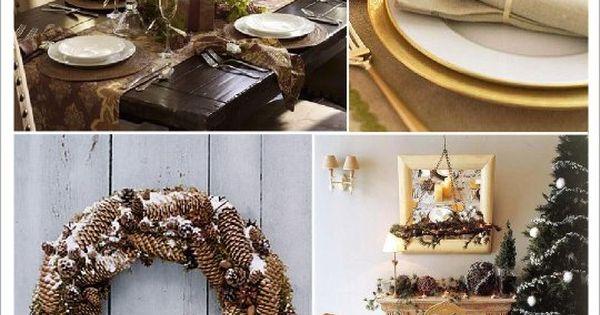 Decoration noel nature couronne pomme de pin branche arbre porte nom pomme de pin noel chateau - Decoration branche arbre ...