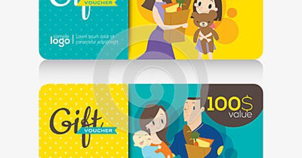 Supermarket Coupon Voucher Or Gift Card Design Template Gift Card Design Voucher Design Gift Voucher Design