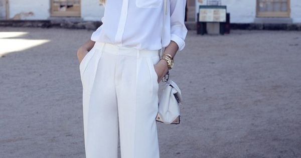 white trouser street style - Google Search