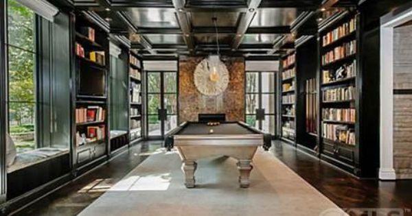 Love This Library Billiard Room University Interior Design Estate Homes