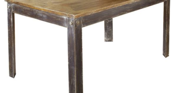 Farmhouse Dining Table In Solid Mango Wood Sandblasted