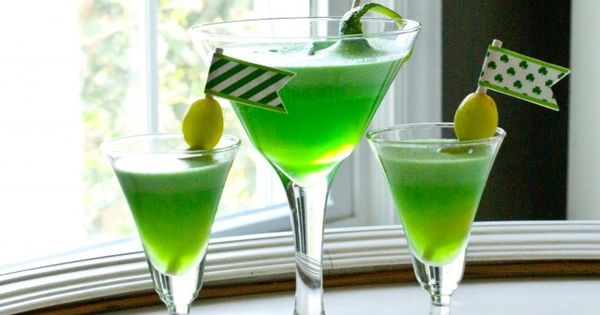 Saskatchewan Prevention Institute's October Featured Mocktail: St. Patrick-tini. Celebrate St. Patty's day