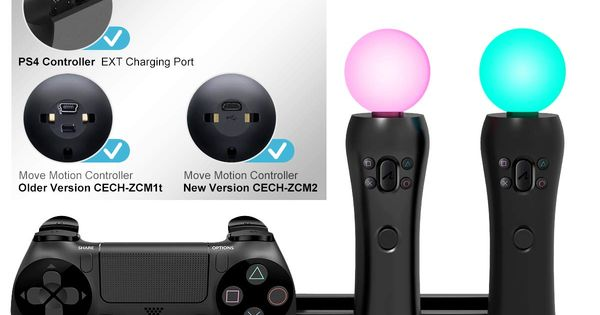 Kootek Charging Stand With Cooling Fan For Playstation Vr Move