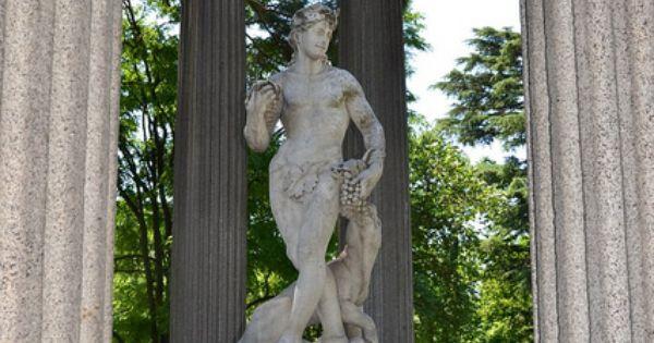 Templo de baco dios del vino pedestal de m rmol de san - Pedestal para plantas ...