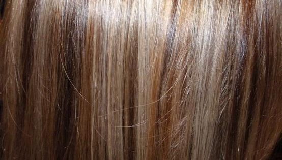 chocolate low lights... or on my hair, lotsa blonde highlights