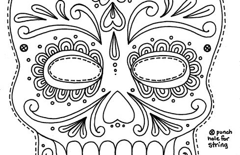 Yucca Flats, N.M.: Wenchkin's Coloring Pages - Sugar Skull ...