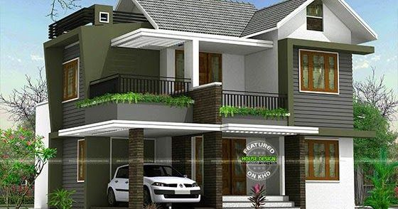 4bhk Floor Plan And Elevation In 5 Cent House Balcony Design House Front Design Duplex House Design
