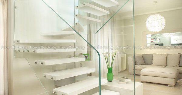 Scala con pareti in vetro strutturale e legno 4 Scale per interni ...