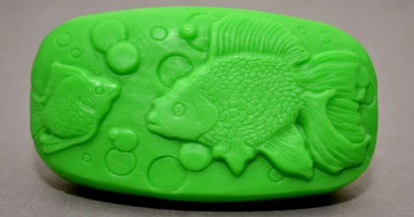 Fish soap mold silicone mould soap making bar soap mica for Silicone fish molds