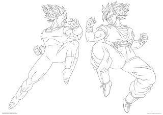 Dibujos De Dragon Ball Z Goku Y Vegeta Dibujo De Goku Goku Y Vegeta Peleando