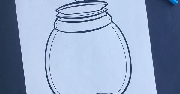 The BFG Dream Jar Coloring Page