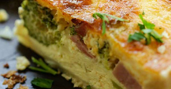 Cheesy ham and broccoli quiche the best homemade quiche for The best quiche ever