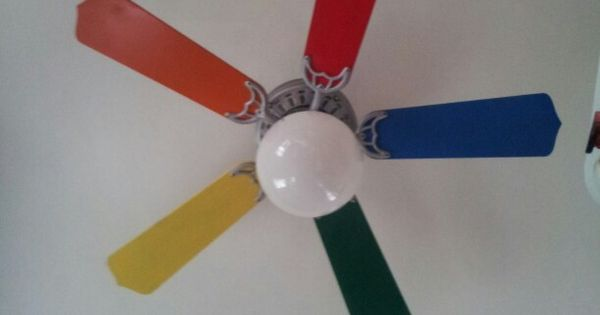 Rainbow Ceiling Fan Round And Round Pinterest