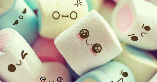 #kawaii marshmallow faces sugar perfectlypopcorn sweet