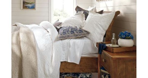 Ashby Sleigh Bed - Rustic Pine finish | Pottery Barn