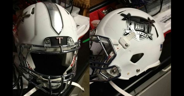 Troy White Helmets Sweet Uniforms Pinterest Helmets