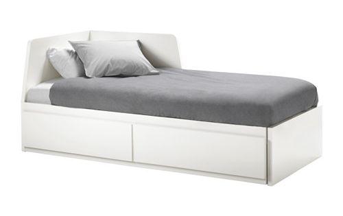 Flekke cama indiv dupla c 2 gav 2 colch es branco for Sofa cama individual espuma