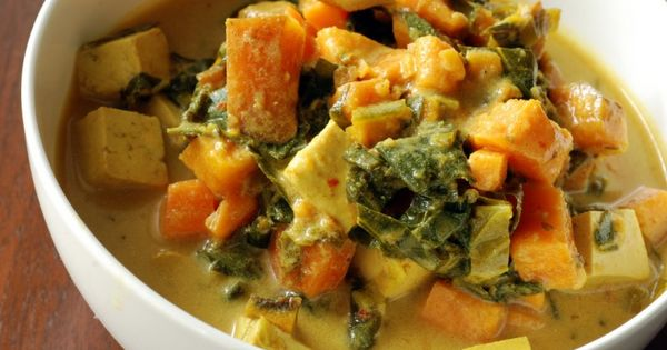 Make it Vegan - Jamaican Tofu Chowder with Collard greens