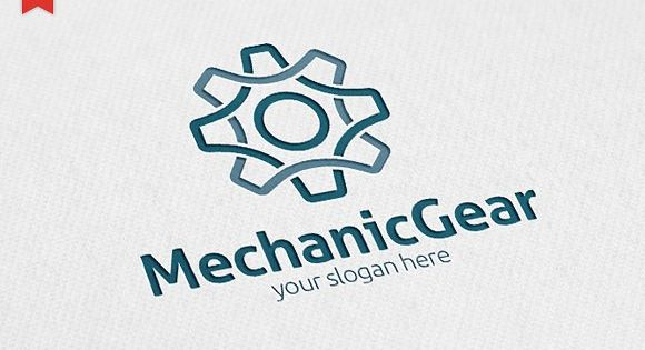 Mechanic Gear Logo – minimalist and modern