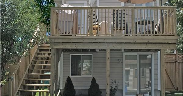 Images Of 2nd Floor Walk Out Decks With Steps Fence All