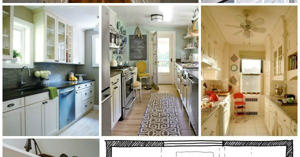 Kitchen design galley kitchen layouts via remodelaholic for Galley kitchen update ideas