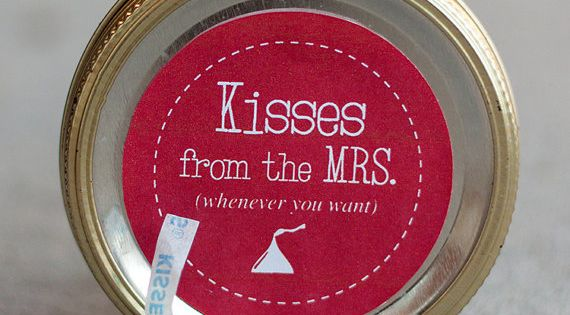 Husband gift with Hershey kisses!