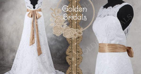 Brautkleid Hochzeitskleid Spitze tiefen V wieder von TheBridalGowns ...
