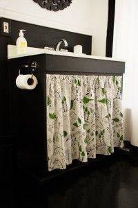 House Tweaking Bathroom Cabinets Diy Bathroom Sink Vanity Pink Shower Curtains