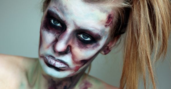 The walking dead halloween make up a tutorial disfraz - Como maquillarse de zombie ...