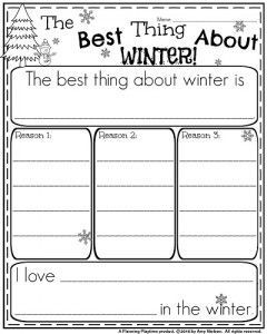 First Grade Writing Prompts for Winter   First grade writing ...