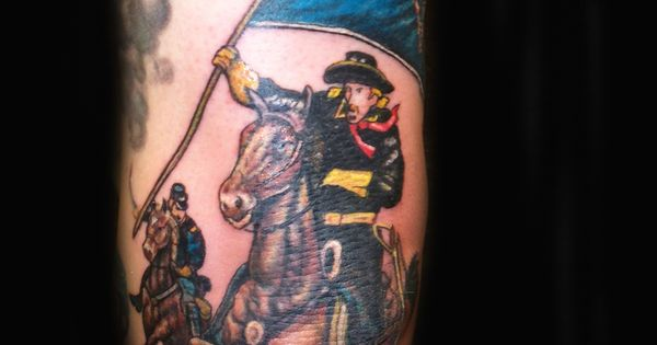 history of tattoos civil war cavalry soldier tattoo design cavalry tattoo designs and meanings. Black Bedroom Furniture Sets. Home Design Ideas