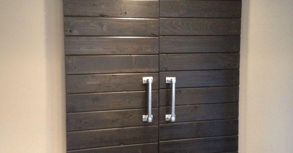 Double sliding barn door hardware kit for two doors with for 10 foot sliding door