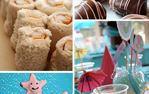 mermaid party food (love the sushi sandwiches)