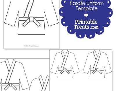 Printable Karate Uniform Template Elijah 6th Bday