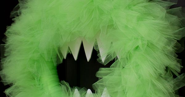 Monster Wreath. Cute for Halloween or a monster party! So cute!Fun to