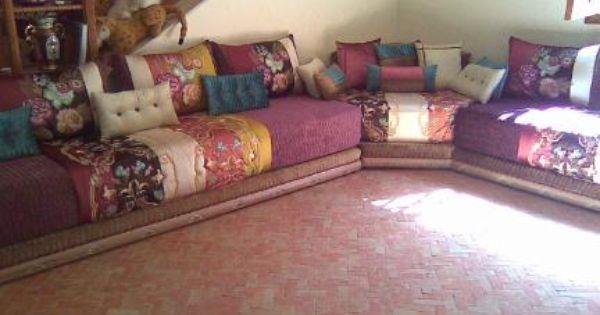 Salon marocain salons marocains moroccan living room - Housse salon marocain pas cher ...