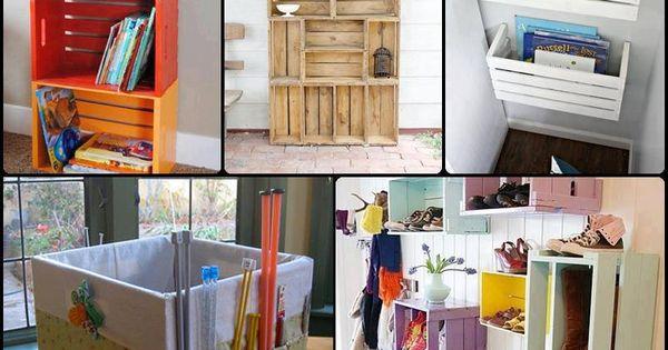 Caixotes de feira podem ser usados na decora o com estilo e bom gosto confira 50 ideias - Muebles de cocina reciclados ...