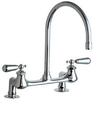 Chicago Faucets Bridge Style Residential Gooseneck Kitchen Sink