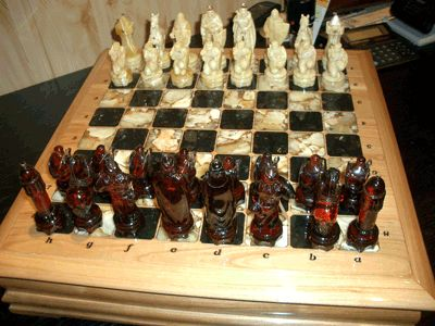 Luxury chess set luxury chess sets exclusive baltic amber chess set for sale exclusive - Lord of the rings chess set for sale ...