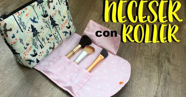 Neceser Con Roller Para Brochas Patrón Incluído Neceser De Maquillaje Neceser Neceseres Transparentes