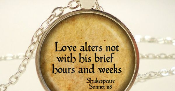 How is love presented in Shakespeare's sonnet 116 (
