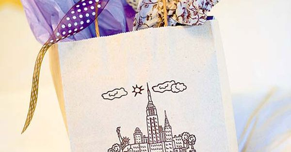 New York Wedding: The couple gave out-of-towners gift bags of goodies ...