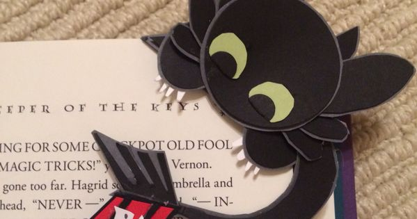 Toothless Corner Bookmark Cute And Easy To Make Ayra 231