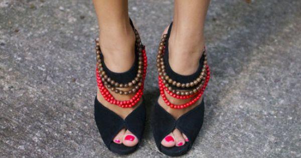 diy fashion: DIY beaded High Heels