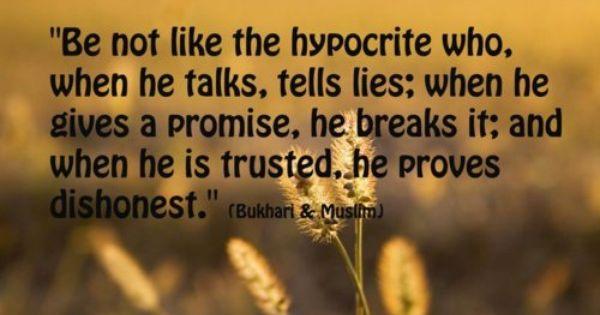 signs of a hypocrite