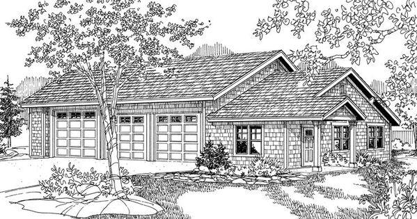 Three car garage plan 051g 0037 lake home floorplans for Lake house plans with garage