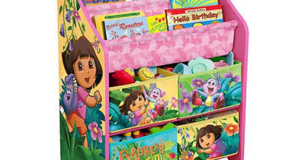 Nickelodeon Dora The Explorer Book And Toy Organizer Toy Organization Organizing Kids Books Kids Storage